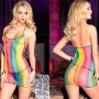 MINI DRESS RETE ARCOBALENO