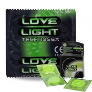 PRESERVATIVI FOSFORESCENTI TECHNOSEX LOVE LIGHT