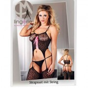 BODYSTOCKING STRAPSHEMD SET