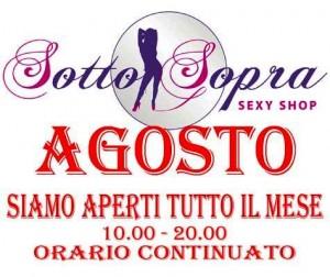 Sottosopra Sexy Shop Aperti ad Agosto