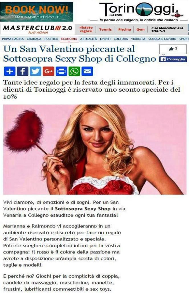 Un San Valentino piccante al Sottosopra Sexy Shop di Collegno.