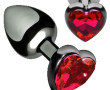 HEART JEWEL PLUG RED MEDIUM