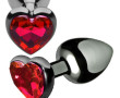 HEART JEWEL PLUG RED SMALL