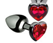 HEART JEWEL PLUG RED LARGE